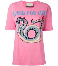 pink snake patch t-shirt