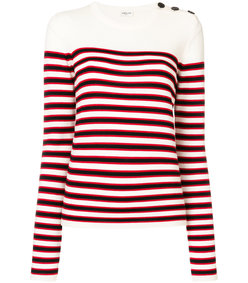 red striped fitted sweater
