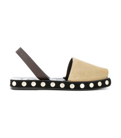 nude neutrals studded sole slingback sandals