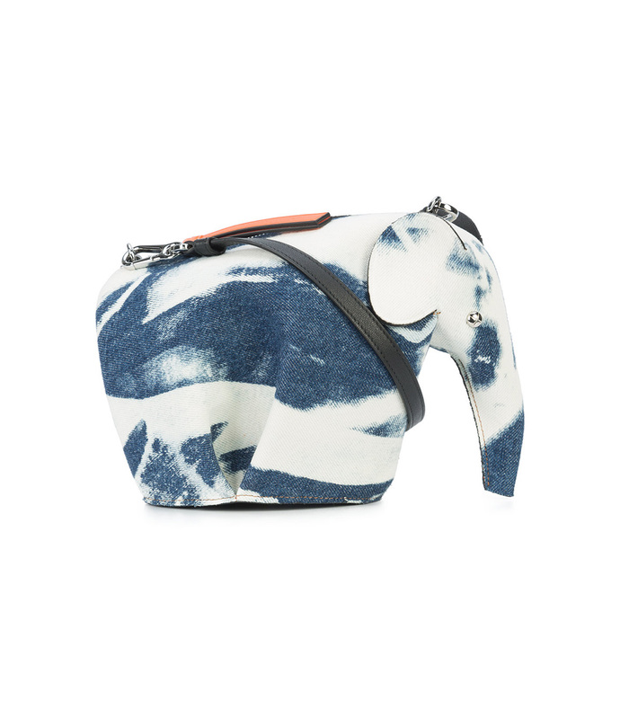 white/blue mini bleached elephant bag