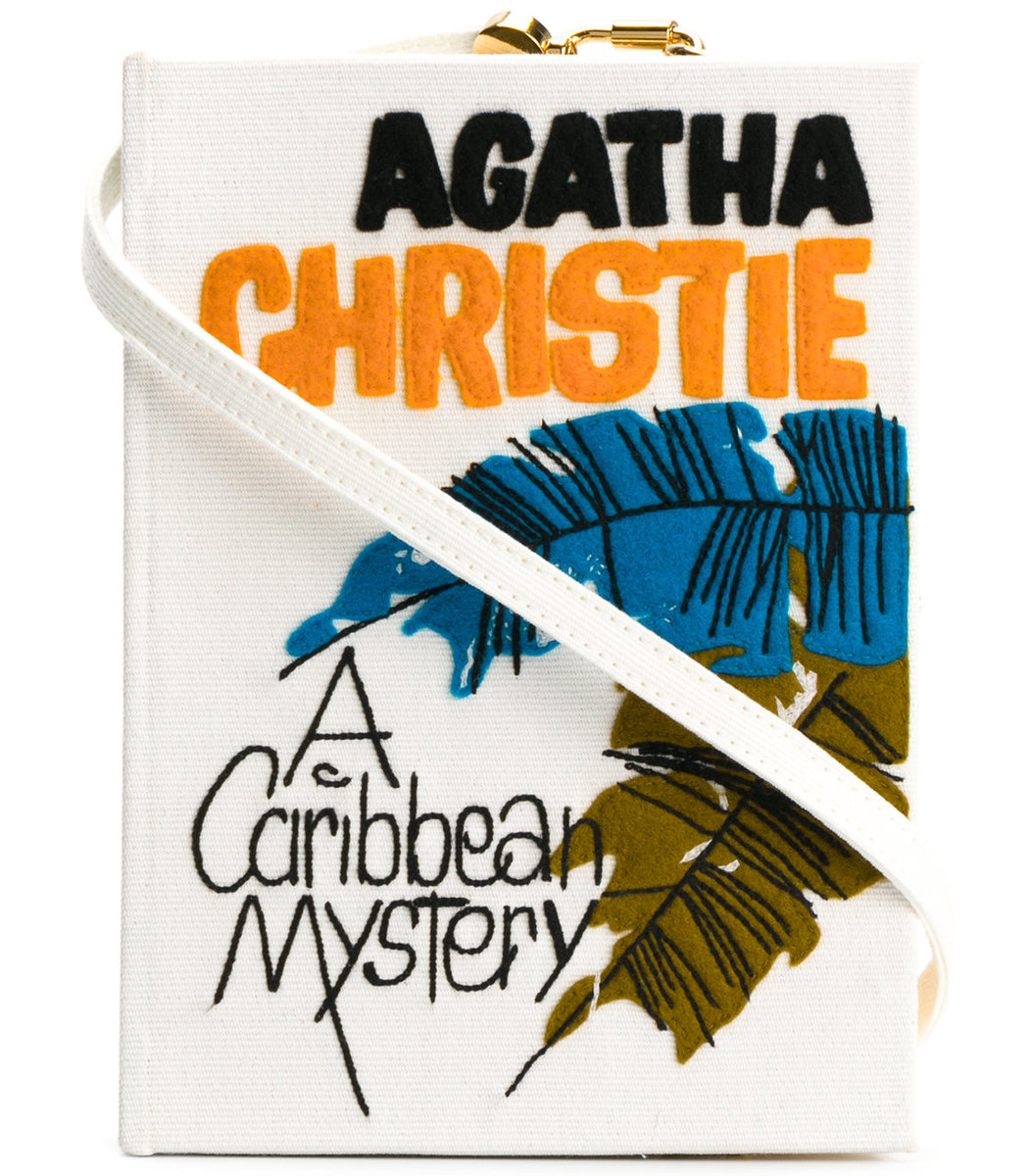 Olympia Le-Tan Caribbean Mistery Strapped Book clutch