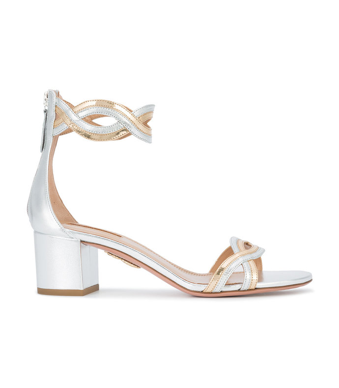 metallic moon ray sandals