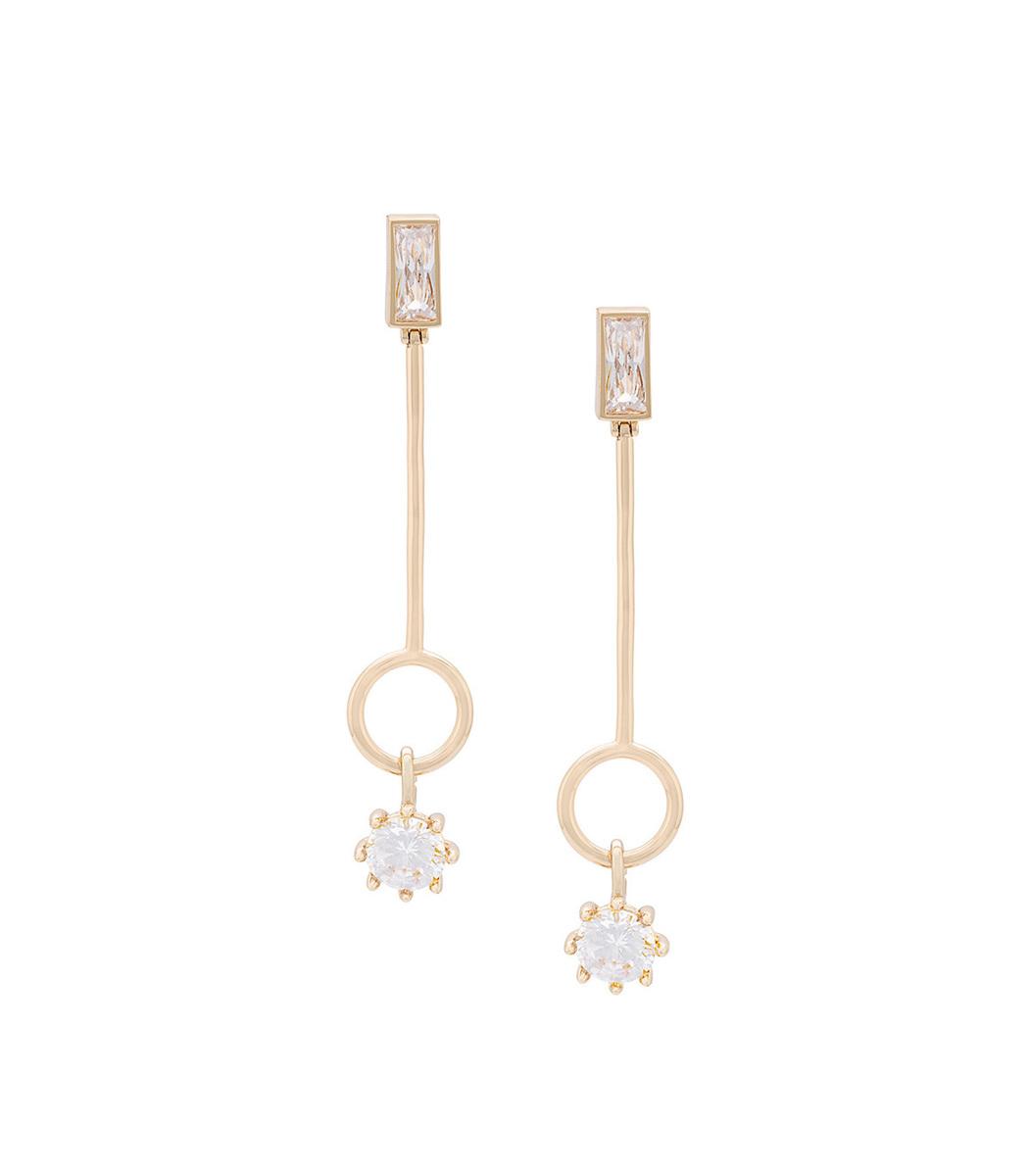 Eddie Borgo Gold Baguette Estate Line Earrings