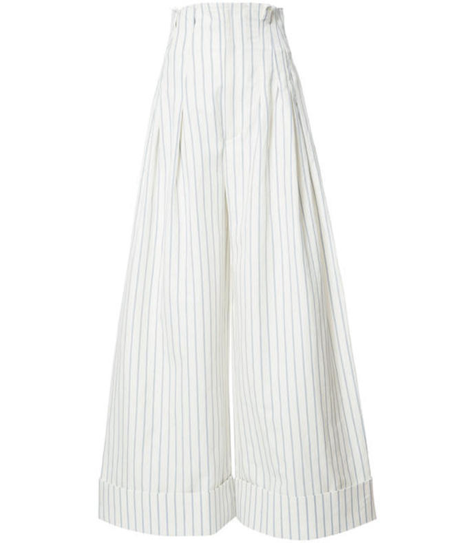 white 'arles' pant