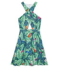 ShopBazaar Mara Hoffman Leaf Line Crossover Dress MAIN
