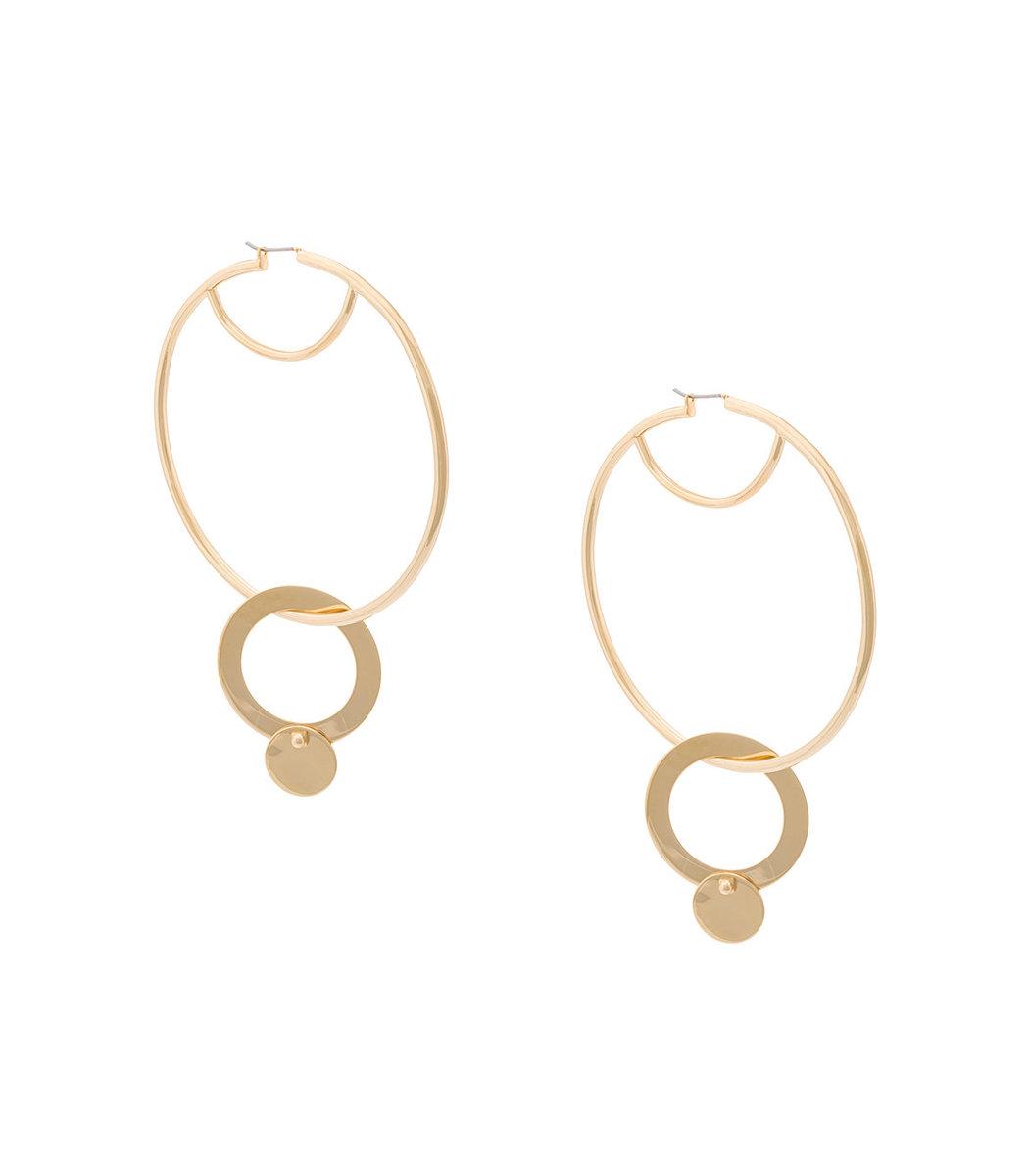 Eddie Borgo Gold Nubia Hoop Earrings