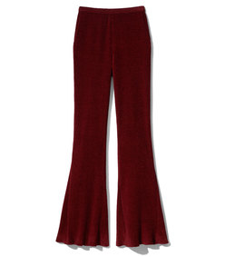 oxblood  straight flare trouser