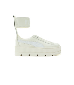 white fenty x puma by rihanna ankle strap sneakers