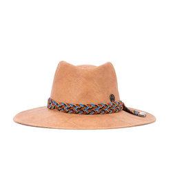 beige braided hat