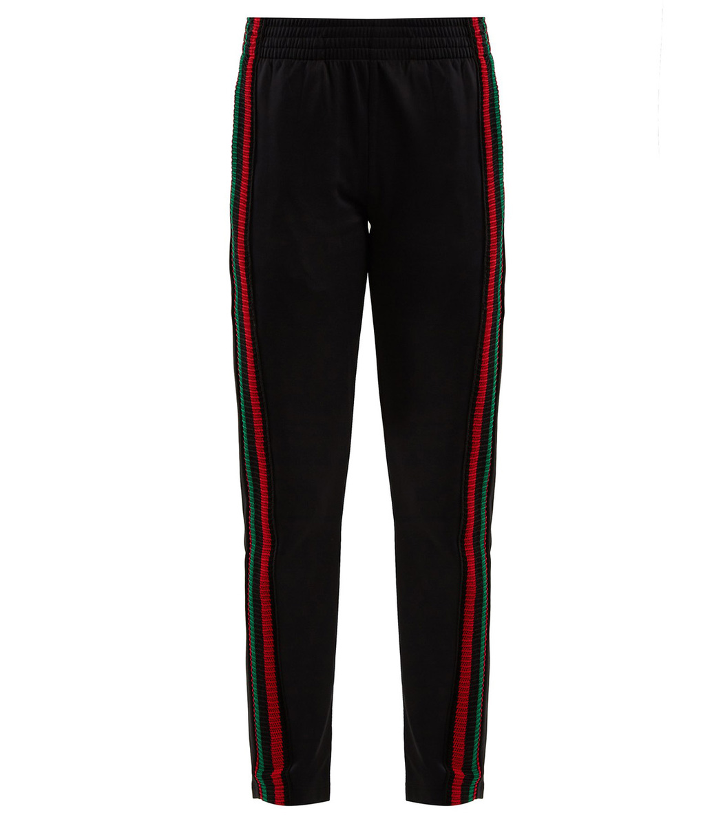 Wales Bonner Striped Crochet-Detailed Track Pants