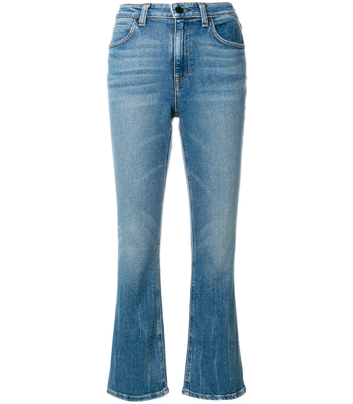 Blue Classic Cropped Denim Jeans 1544013498052557037