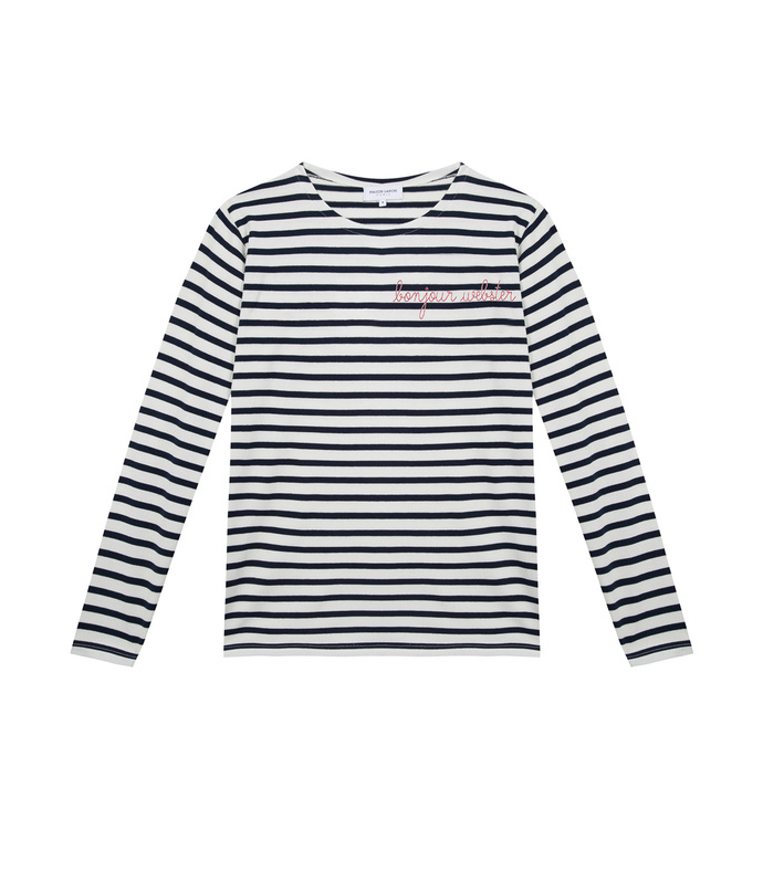 bonjour webster stripped long sleeve top