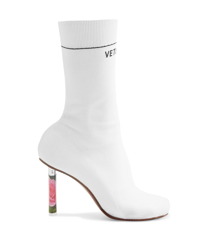 white sock ankle boots