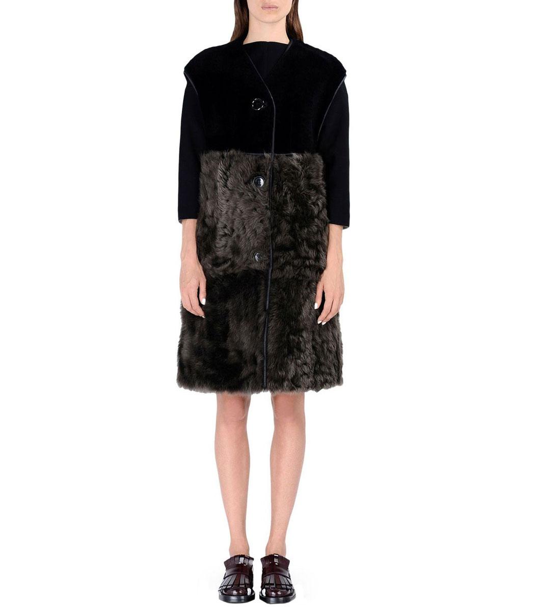 ShopBazaar Marni Long Shearling Vest FRONT