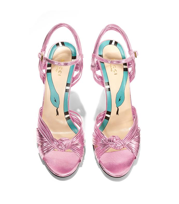 metallic pink 'allies' sandal