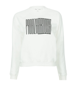 white shrunken sweatshirt