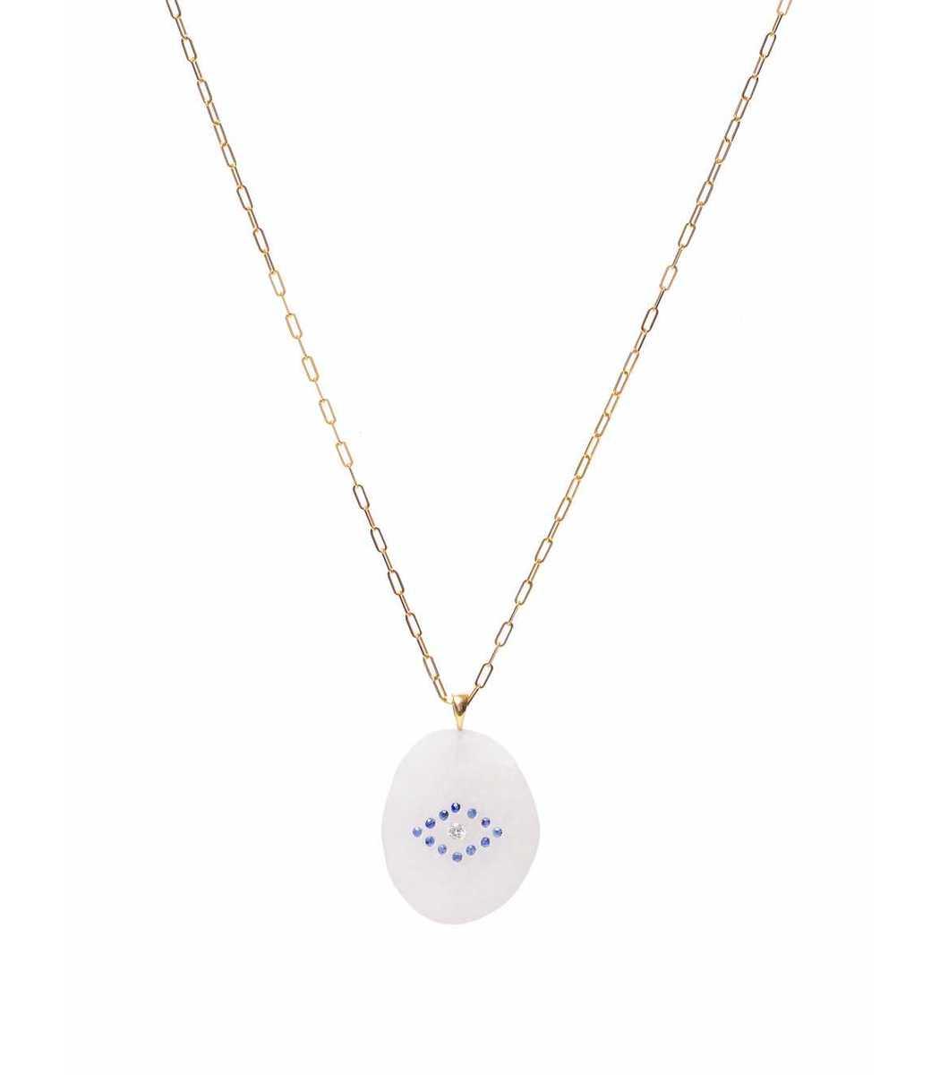 Cvc Stones one of a kind evil eye necklace