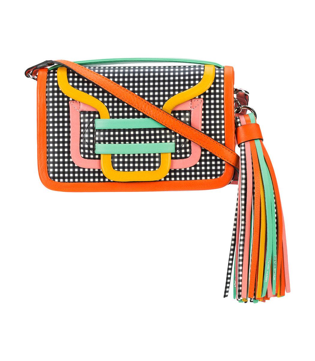 Multicolor Alpha Cross Body Clutch Bag