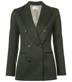 green fitted tailored blazer