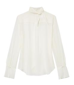 white scarf blouse