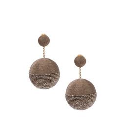 gold disco 2 drop earring