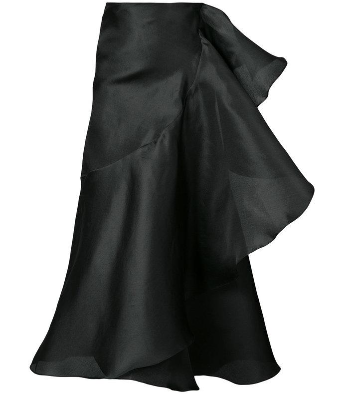 black tea wrap skirt