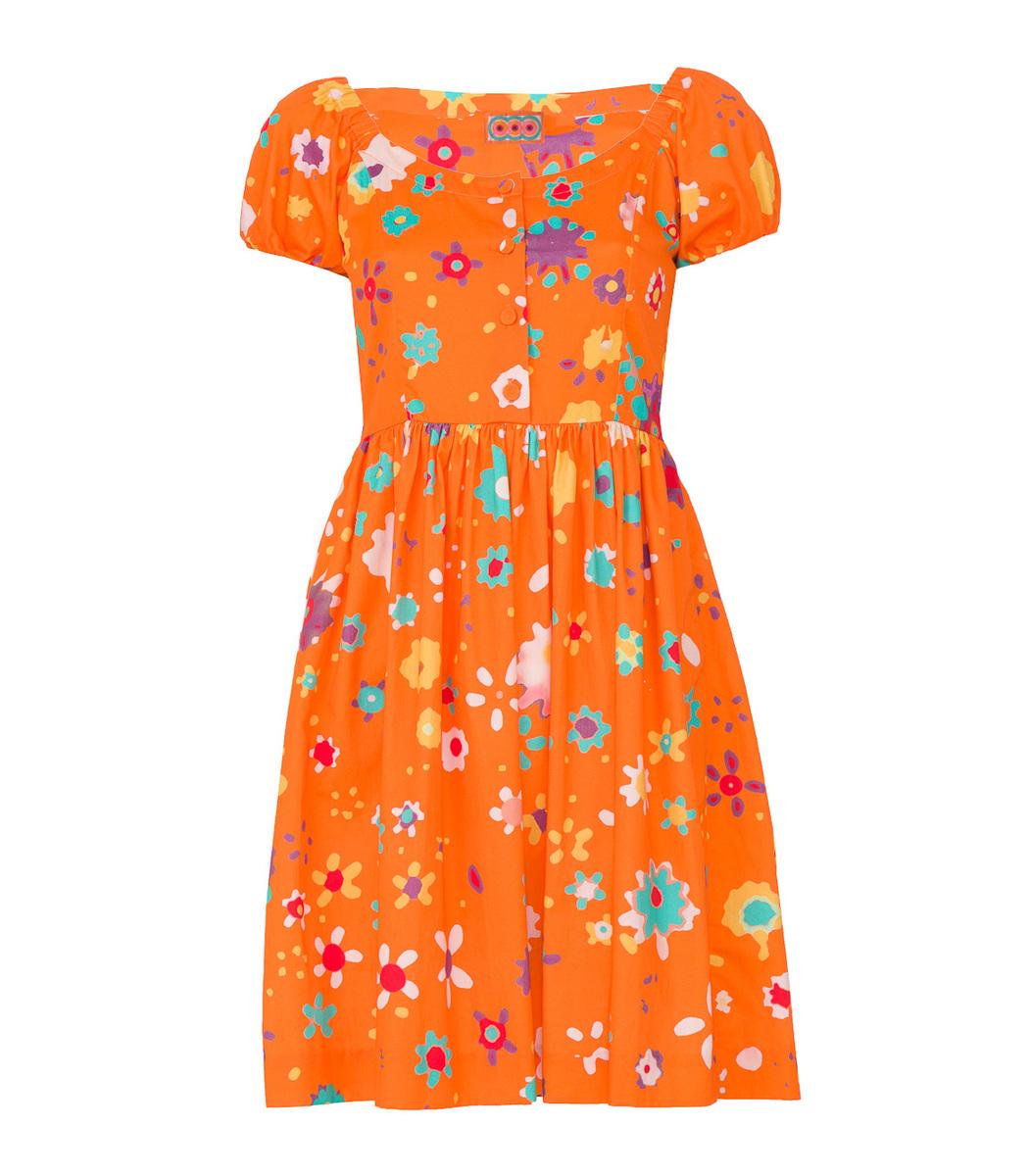Lhd Orange Coconut Grove Dress