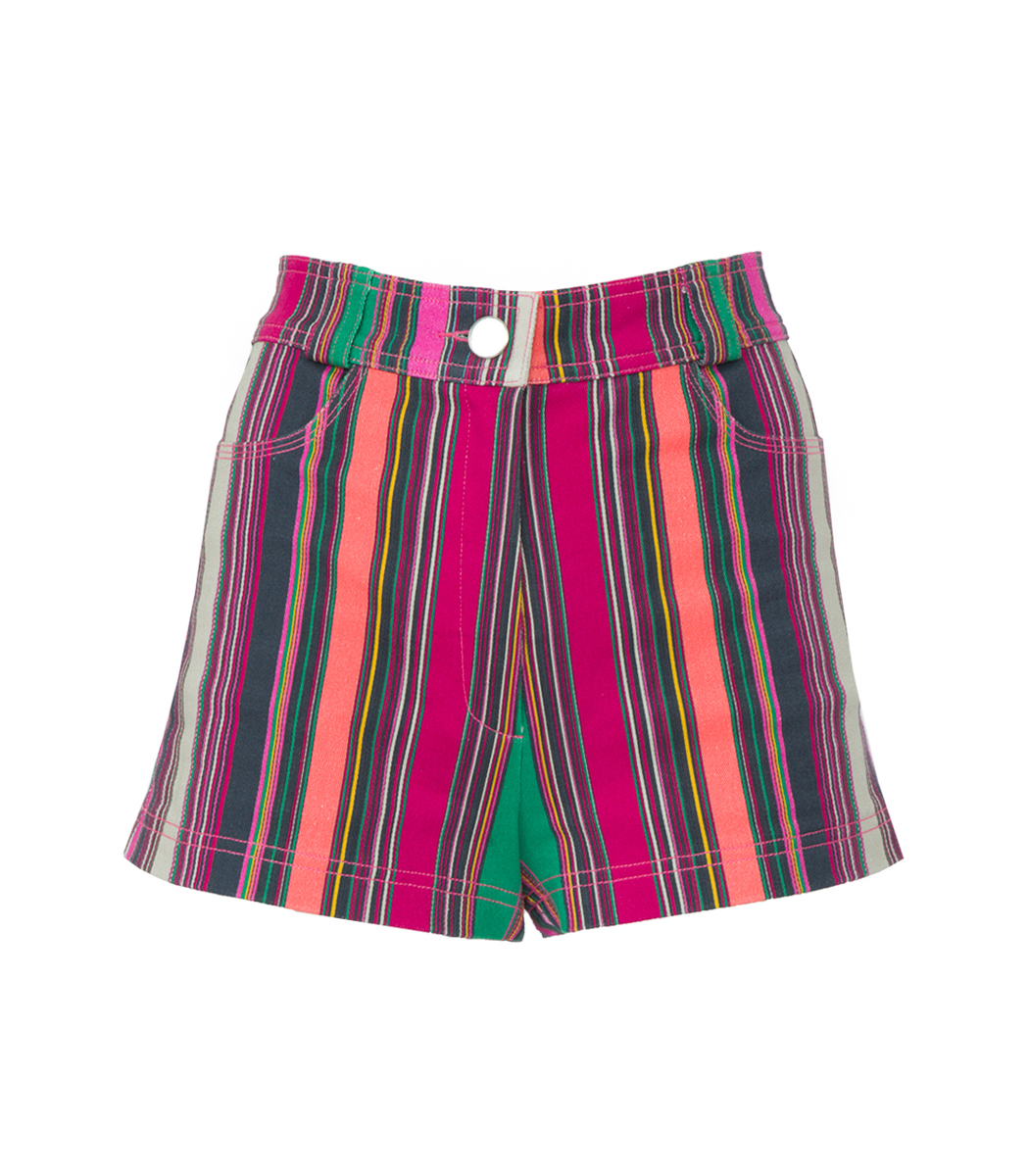 Lhd Multicolor Collins Avenue Striped Shorts