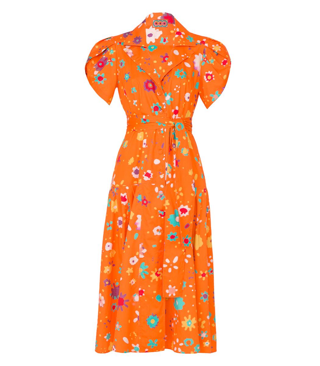 Lhd Orange Glades Dress
