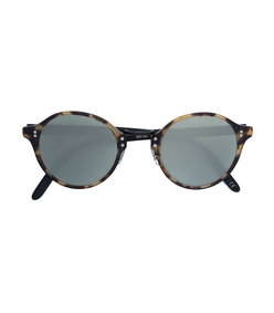 brown round tortoise shell glasses