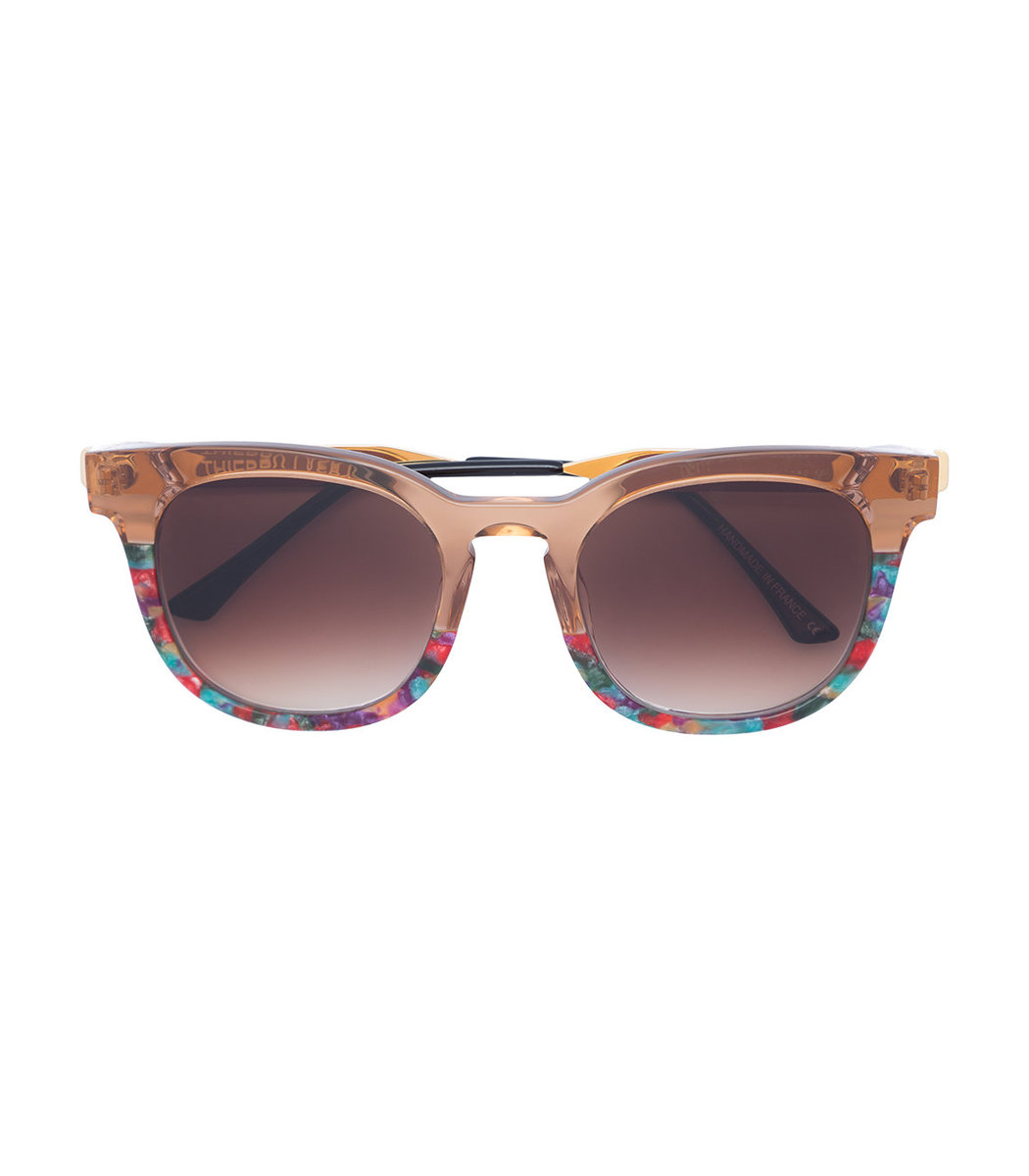 Thierry Lasry Gold Printed Square Sunglasses