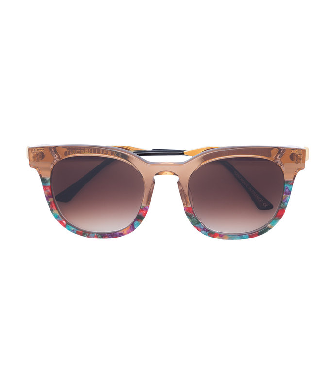 gold printed square sunglasses