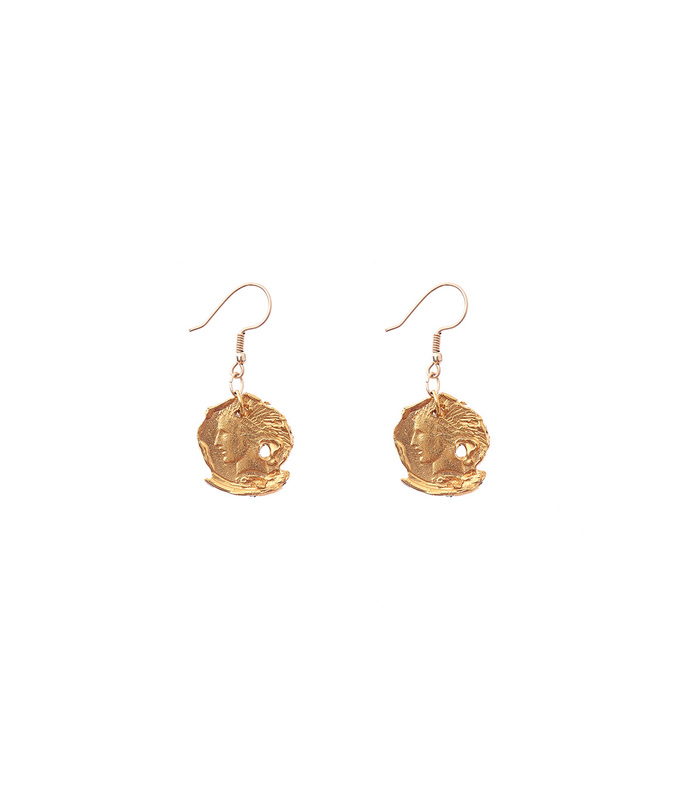 gold the forgotten memory earrings