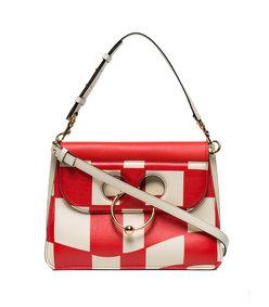 red medium checkerboard pierce bag