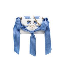 mini pierce ribbon cross body bag