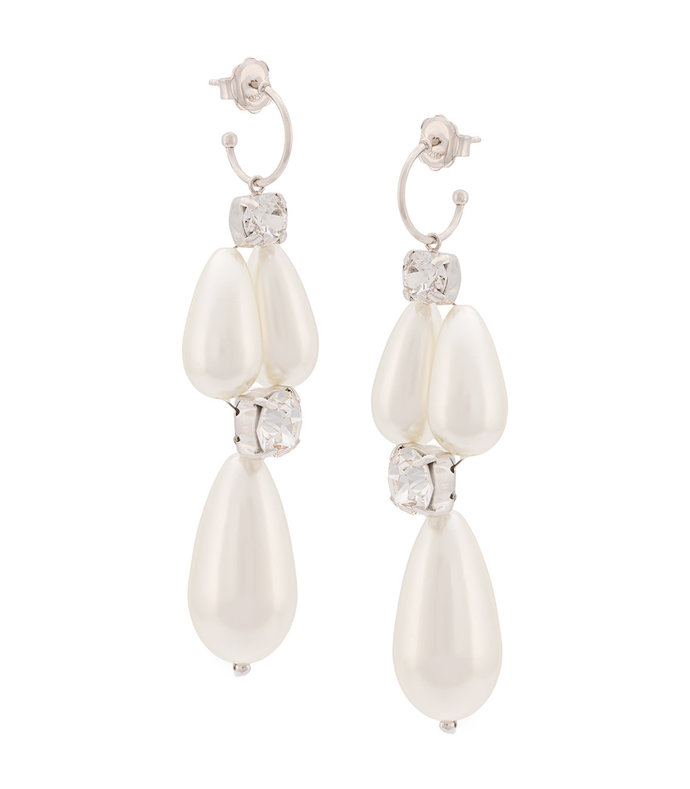 pearl embellished drop earrings