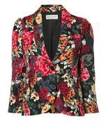 multicolor floral print blazer