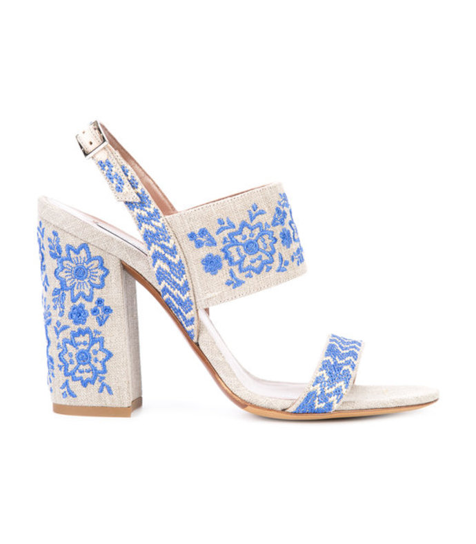 ivory & blue senna festival sandal