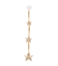gold star cascade earring