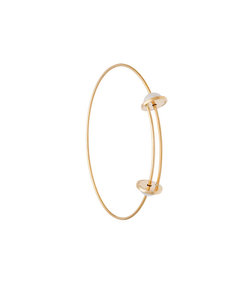 gold 'abc' pearl bracelet