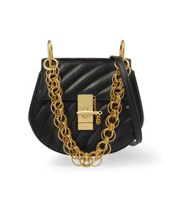 drew bijou quilted leather shoulder bag