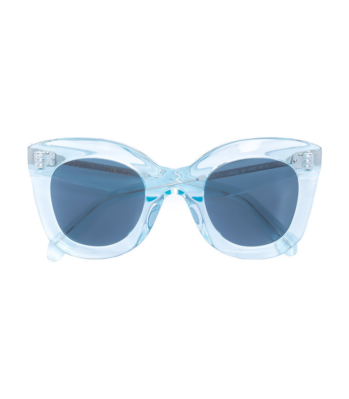 butterfly square tinted sunglasses