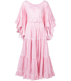 pink oversized belted dress