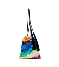 multicolor sequin rainbow bracelet bag