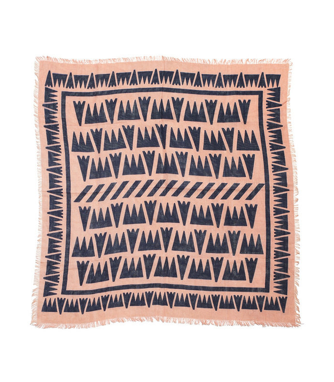 blush graphic arrows scarf