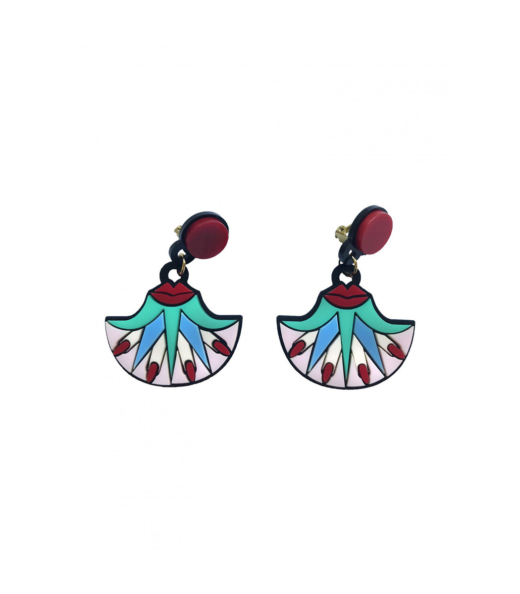 Yazbukey Kiss My Lotus Earrings