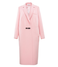 pink long peacoat