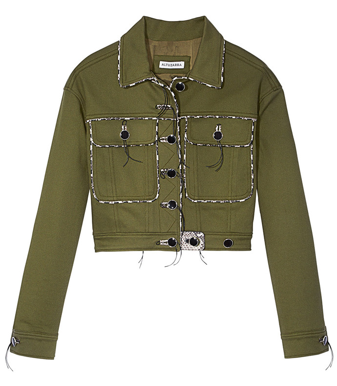 olive green 'feday' jacket