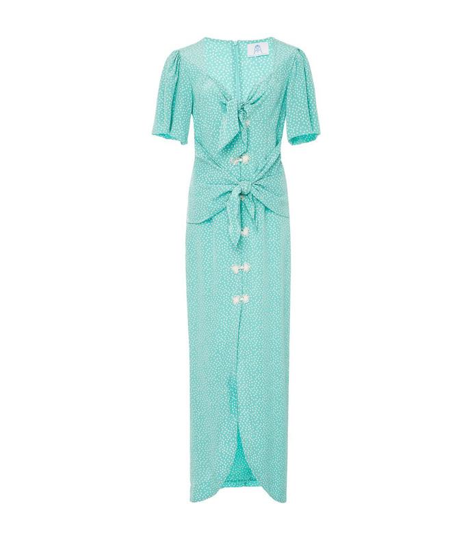 Blue Zaza Silk Midi Dress 2190028826271899201