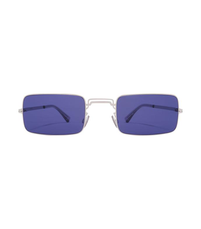Blue Margiela Craft Square Sunglasses 2231093421050110297
